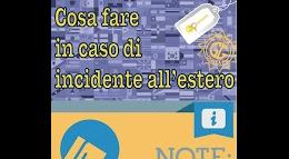 Cosa fare in caso di incidente all'estero Infografica