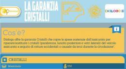 Dialogo polizza cristalli Infografica