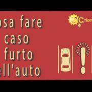 Furto dell'auto: cosa fare - Consigli di Chiarezza.it