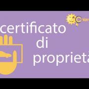 Certificato di proprietà - Guide di Chiarezza.it
